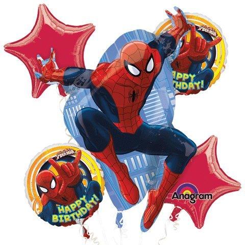 1 X Ultimate Spiderman Happy Birthday Mylar Foil Balloon Bouquet Set