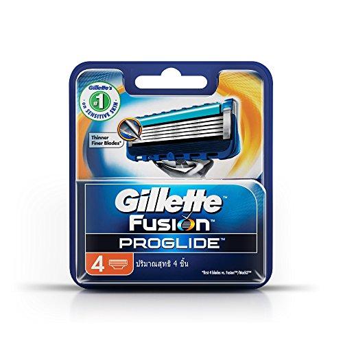Gillette Fusion ProGlide Manual Men's Razor Blade Refills, 4 Count (Fusion Blades 4 compare prices)