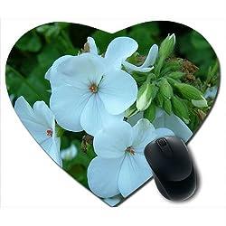 Awwsme Light Blue Flower Heart Mousepad
