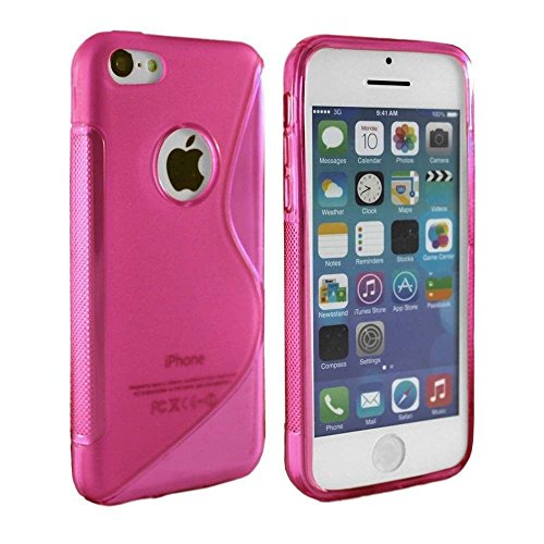 Housse en silicone rose vif en TPU S-Line Coque silicone pour Apple iPhone 4