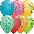 """11"""" Dinosaurs In Action Festive Balloons"""