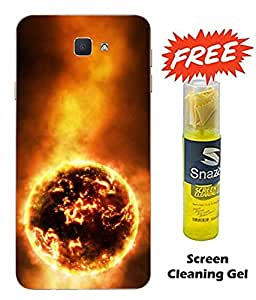 Case Cover Sun Printed Yellow Soft Back Cover For SAMSUNG Galaxy J5 Prime (Screen Cleaning Gel Free)