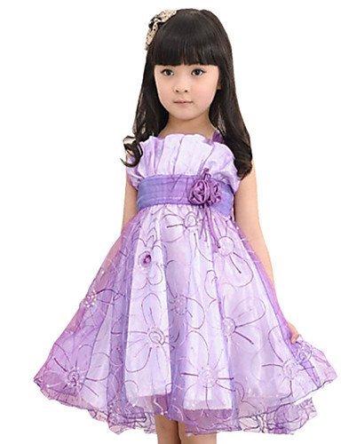 CBIN&HUA Vestito Girl Senza maniche Estate Misto cotone , green-160 , green-160