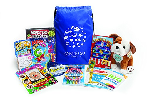 Grins to Go Bag – A Gift Bag of Toys, Games and Activities for Boys and Girls