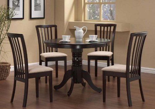 Room Sets Discont Cheap Price 5pc Pedestal Dining Table Chairs Set
