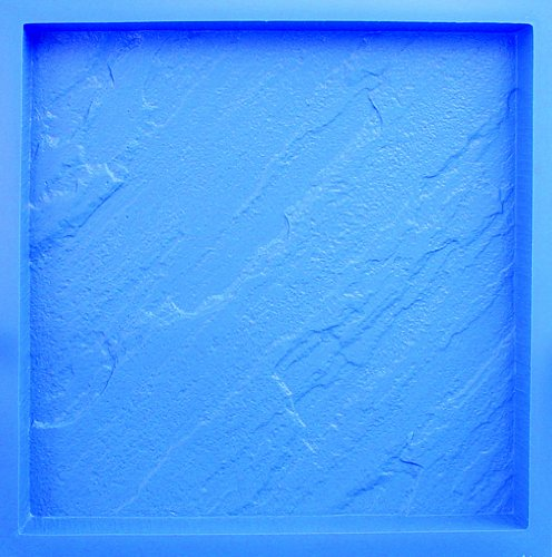 BonWay 32-324 18-Inch by 18-Inch by 1-1/2-Inch Poly Concrete Stone Mold, Blue Stone A/Sawn Edge