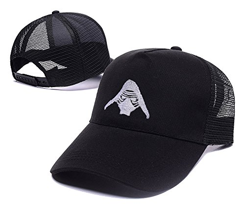 [Jeffrey Kylo Ren Mask Embroidery Leisure Hat Unisex Casual Baseball Mesh Cap] (Gold Miner Costume Accessories)