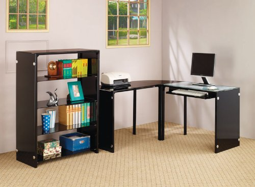 Buy Low Price Comfortable Computer Workstation in Black Finish by Coaster Furniture (B0040IDOBA)