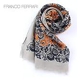 オレンジ(C20) F FRANCO FERRARI フランコフェラーリ 大判ストール 1098PS 26122(オレンジ)