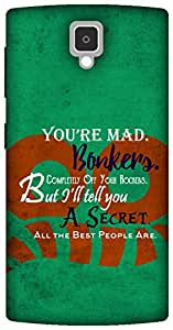 The Racoon Lean Bonkers hard plastic printed back case for Lenovo A1000