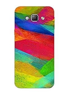 Samsung A8 Back Cover - Colourful Brush Strokes - Artsy Pattern - Designer Printed Hard Shell Case