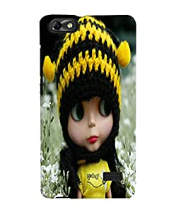 Fuson 3D Printed Cute Doll Designer Back Case Cover for Huawei Honor 4C - D740