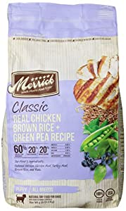 Merrick Classic 5-Pound Puppy Real Chicken, Brown Rice and Green Pea Dog Food, 1 Bag