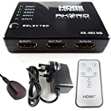 AKORD® 5 Port Input HDMI Switcher 1 Port Output + IR Remote Supports 1080p 3D HDTV / Selector / Splitter / Router / Hub
