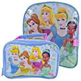 Disney Princesses Small Toddler Backpack w/Detachable Utility Lunch Bag-11
