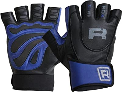 RDX Ultimate Weight Lifting Body Building Gloves Gym Leather Training Straps-Size Small, Medium, Large, X-Large from RDX