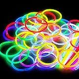 Glow - Juego de pulseras, gafas y adornos para el pelo fosforescentes