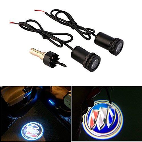 WONFAST® Car Auto Laser Projector Logo Illuminated Emblem Under Door Step courtesy Light Lighting symbol sign badge LED Glow Performance (Buick Emblem Light compare prices)