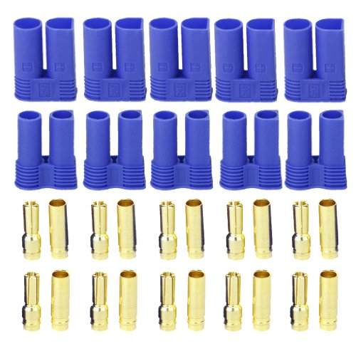 5 Pairs EC5 5mm Banana Plug Female Male Bullet Connector for RC ESC LIPO Battery Motor - 1