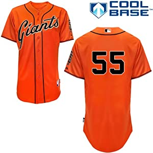 Tim Lincecum San Francisco Giants Alternate Orange Authentic Cool Base Jersey by... by Majestic