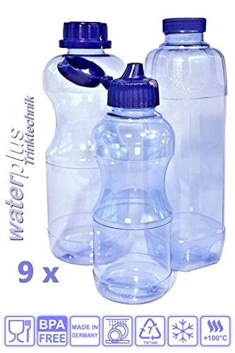 9-x-trinkflaschen-aus-tritan-3-x-05-liter-rund-3x-10-liter-rund-und-3-x-10-liter-eckig-vierkant-inkl