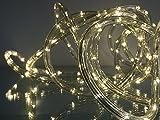 LED Lichtschlauch 25 m Farbe warmweiß innen außen von Gartenpirat®