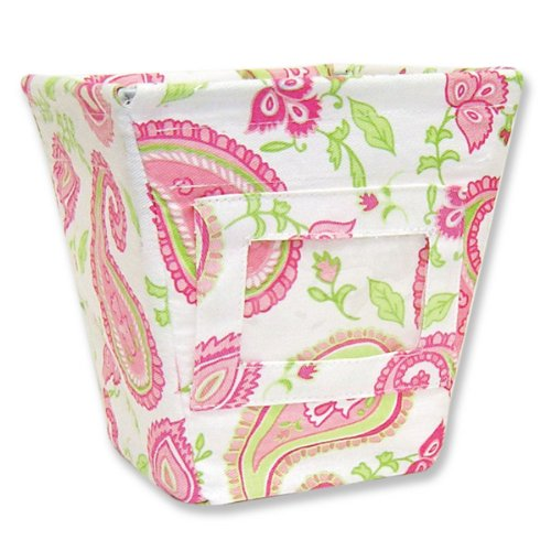 Trend Lab  Small Fabric Storage Bin in Paisley Park Print