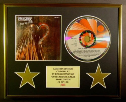 WARLOCK/CD Display/Limitata Edizione/Certificato di autenticità/TRUE AS STEEL