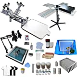 INTBUYING Screen Printing Kit 4 Color Screen Printing Machine Press for Starter
