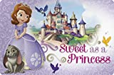 Zak! Designs Placemat with Sofia the First Graphics, BPA-free Plastic