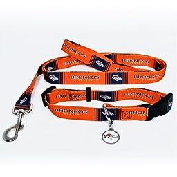 Hunter Denver Broncos Pet Collar, Medium