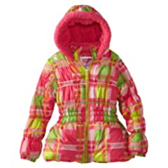 Big Chill Toddler Girls 2-6X Pink Plaid Puffer Winter Jacket/Coat