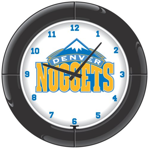 NBA Denver Nuggets Everbrite Neon Wall Clock