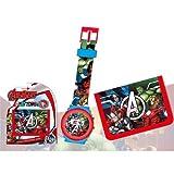 Set portefeuille + montre numérique Avengers Marvel