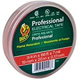 Duck Brand 300878 Professional Grade Electrical Tape, 3/4-Inch by 66 Feet, Single Roll, Red