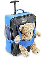 Cabin Max - Sac à roulettes pour enfant et pour son ours en peluche - Bleu