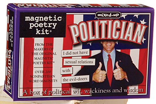 Magnetic Poetry - Mixed-Up Politician Kit - Words for Refrigerator - Write Poems and Letters on the Fridge
