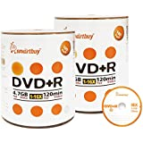 Smart Buy 200 Pack DVD R 4.7gb 16x Logo Blank Data Video Movie Recordable Disc 200 Disc 200pk