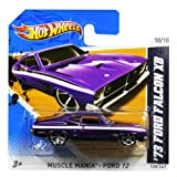 Hotwheels Diecast Car Hot Wheels '73 Ford Falcon XB #120 (Muscle Mania Ford 12)