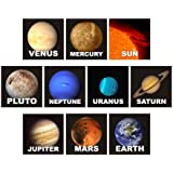 Solar System Square Stickers- Planets