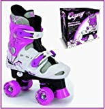 BRAND NEW! OSPREY GIRLS ROLLER SKATES QUAD ADJUSTABLE, HIGH QUALITY, 3J-5J