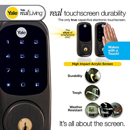 Yale Real Living Keyless Touchscreen Deadbolt With Z Wave