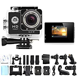 DMG Wifi 1080P Waterproof Helmet Sports Camera with 1.5 inch LCD Display 12MP 170 Degree Wide Angle Lens