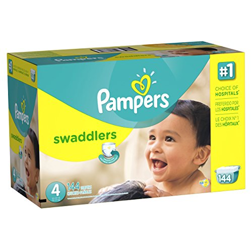 Pampers Swaddlers Diapers Size 4 Economy Pack Plus 144 Count