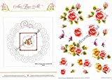 Flower Border Paper Embroidery Pink Rose Flowers 3d Decoupage Sheet