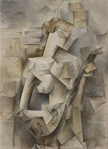 [Perfect Effect Canvas ,the High Quality Art Decorative Prints On Canvas Of Oil Painting 'Pablo Picasso-Girl With A Mandolin,1910', 24x33 Inch / 61x84 Cm Is Best For Kids Room Decor And Home Decoration And] (Plastic Surgery Costume Makeup)