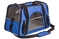 Airline Approved Pet Travel Carrier for Small Dogs Cats Kittens and Puppies Features Soft-Sided Foldable Design with Adjustable Detachable Shoulder Strap