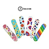 ZCollection TM (1 DOZEN) Colorful Girly Mini Emery Board Nail Files