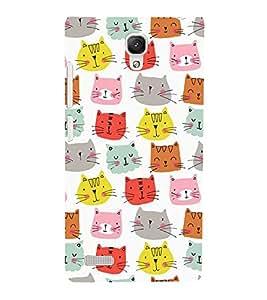 Animated Design Lot of Cat Face 3D Hard Polycarbonate Designer Back Case Cover for Xiaomi Redmi Note :: Xiaomi Redmi Note 4G