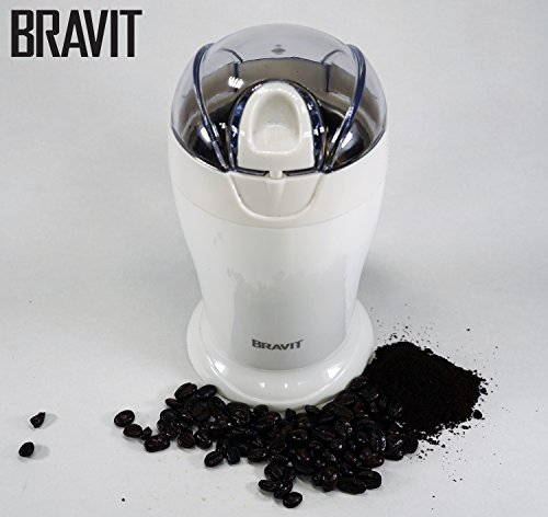 Best Deals! BRAVIT Electric One Touch Coffee Grinder with Stainless Steel Blades